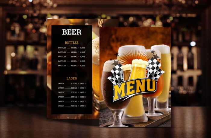 Menus that are free to use in your restaurant