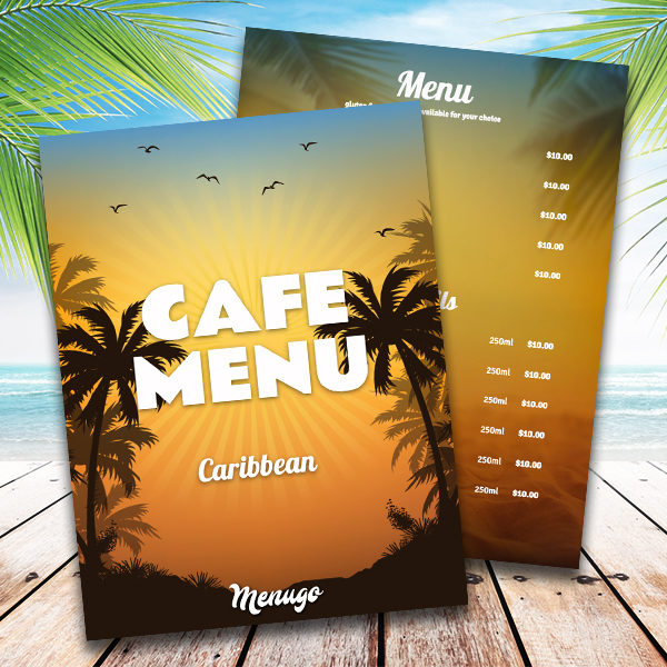 menugo restaurant menu templates