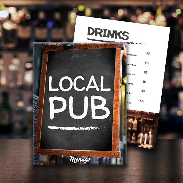 The Local Pub Menu Template Menu Design