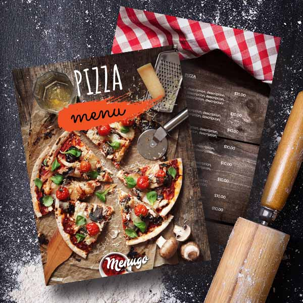 Beautiful Italian Pizza Menu Template Menu Design