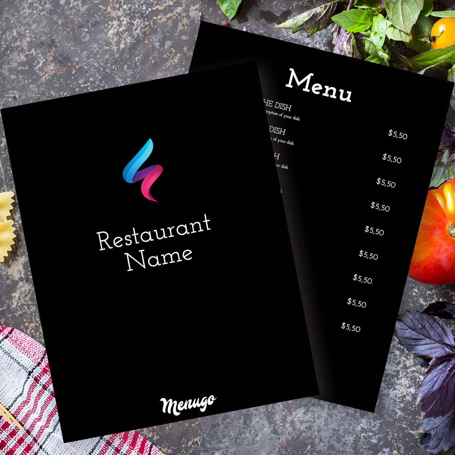 Universal Black Menu Menu Design