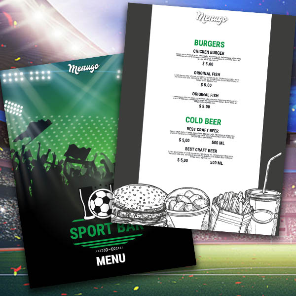 Sport Bar Menu Menu Design