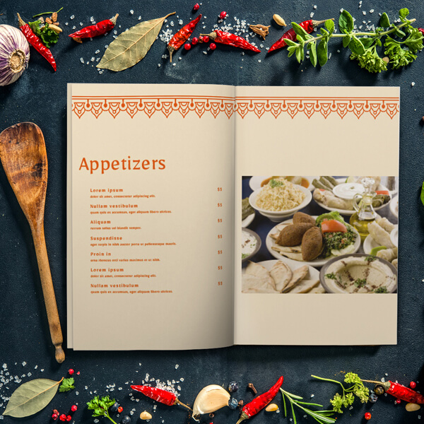 Classic Arabian Food Menu Menu Design