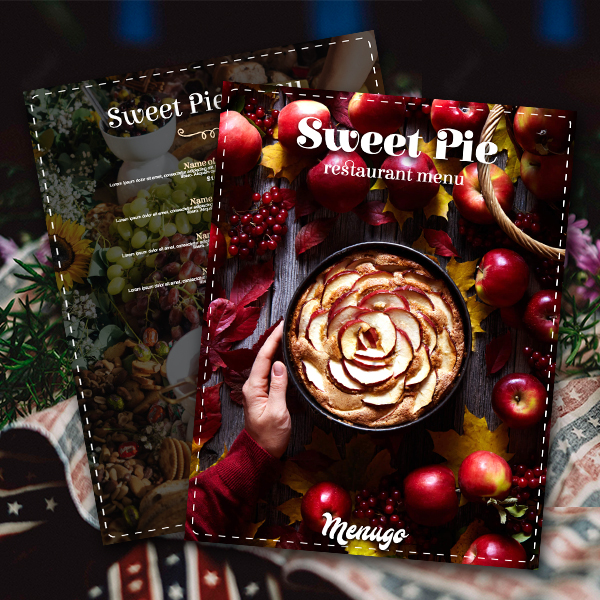 Sweet Pie Menu Template Menu Design