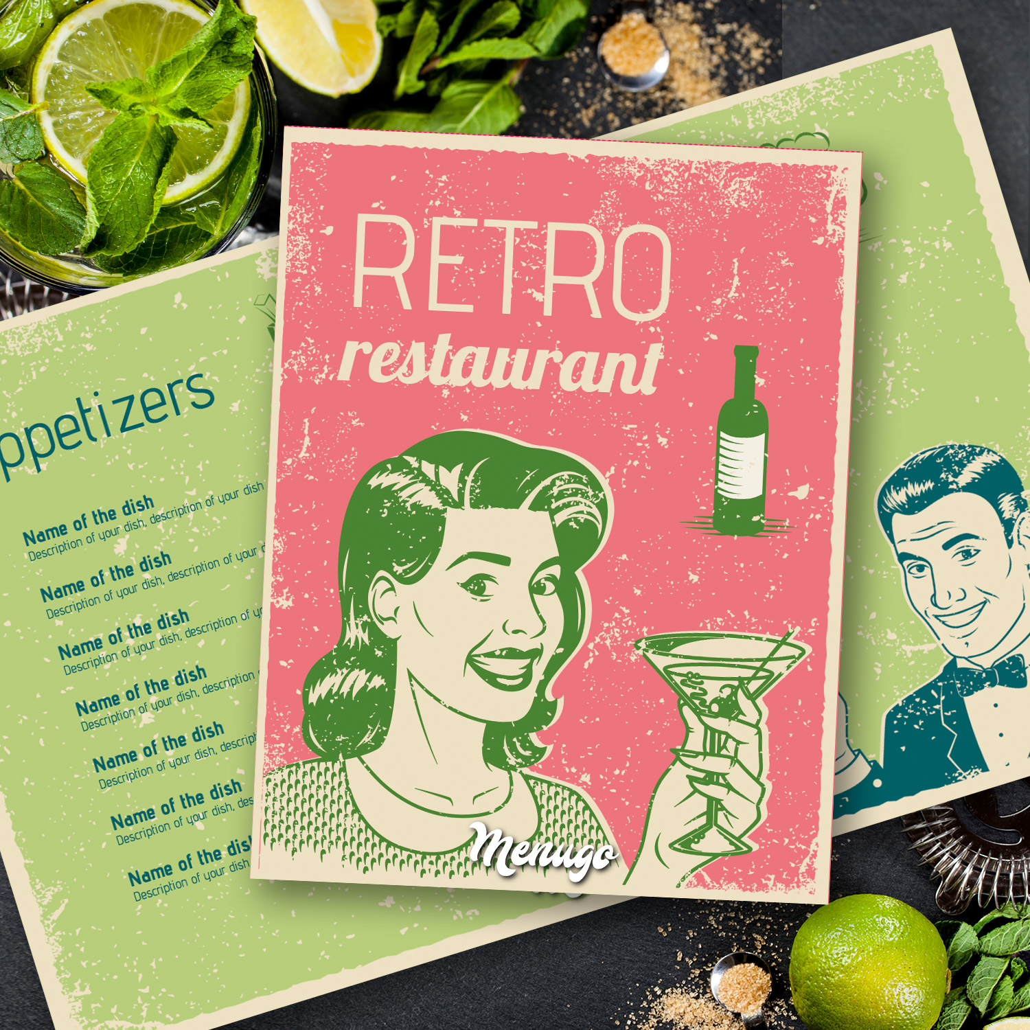 Pin Up Menu Menu Design