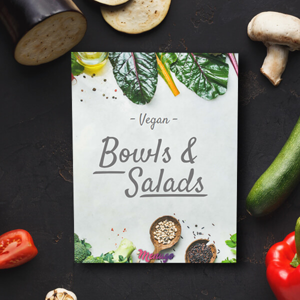 Vegan or Raw Menu Theme Menu Design