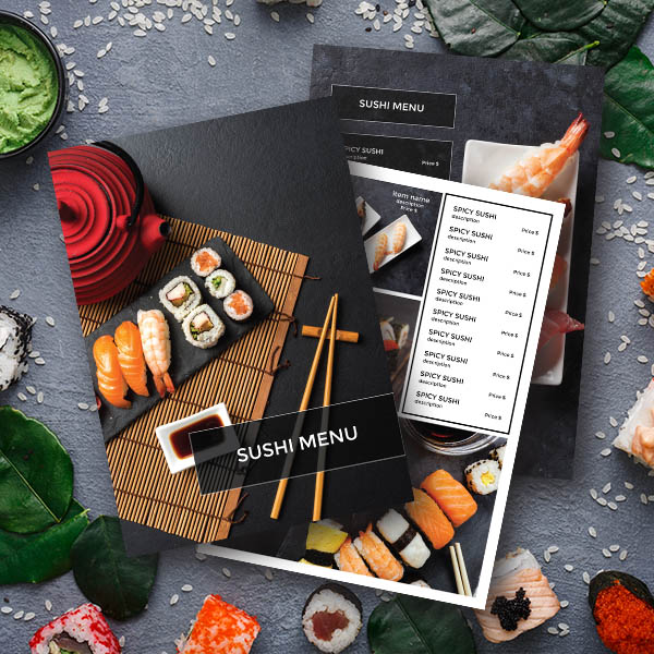 Flawless Sushi Template Menu Design