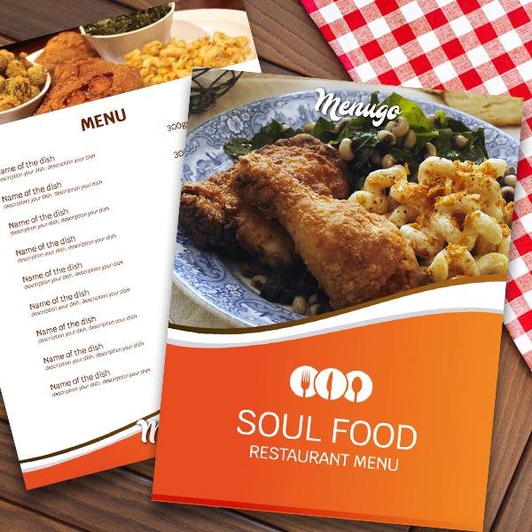 Menugo Soul Food Menu Template