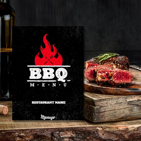 Bold BBQ Menu Theme Menu Design