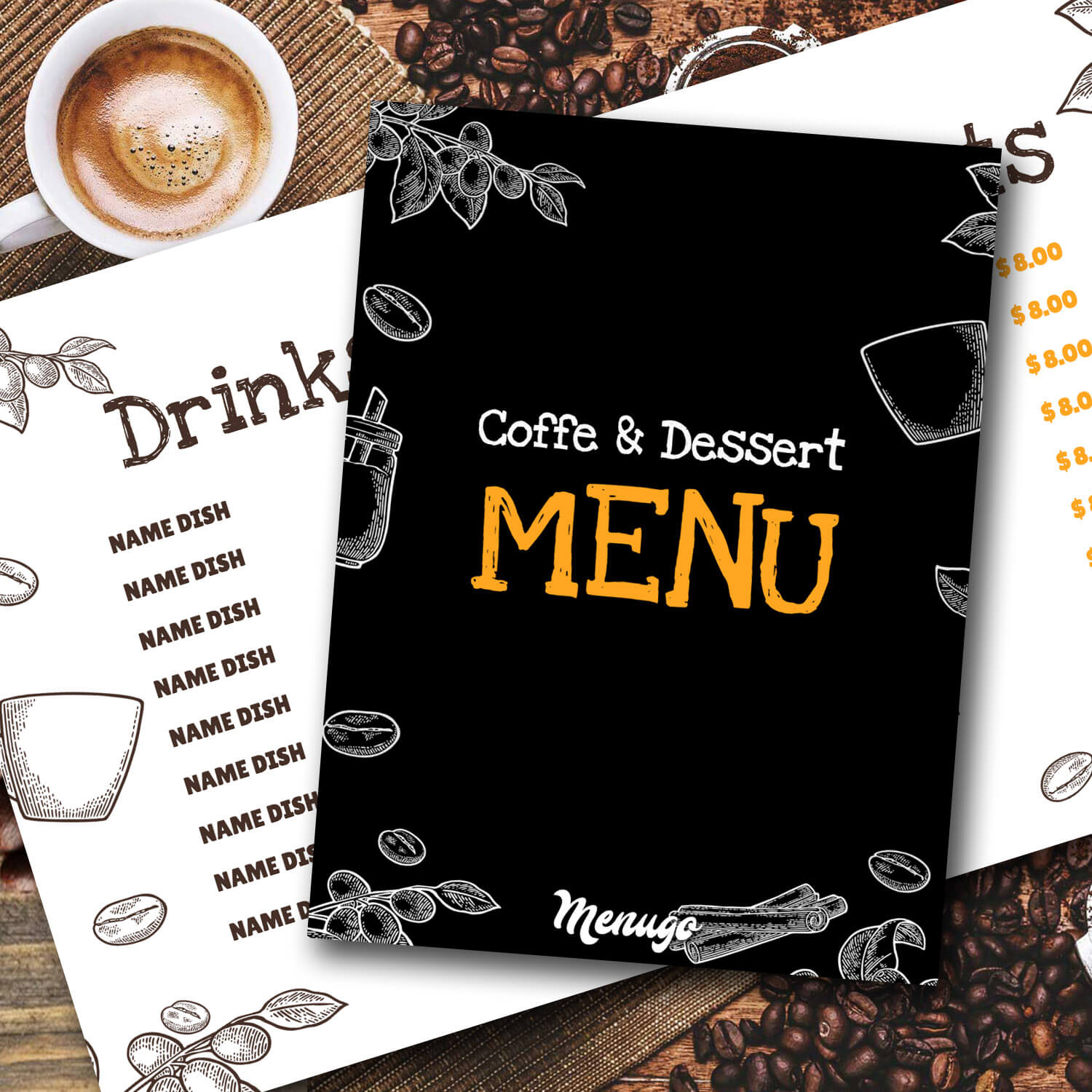 Coffee&Dessert Menu Menu Design
