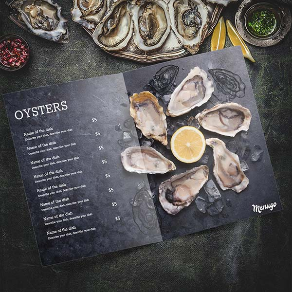 Oyster Menu Theme Menu Design