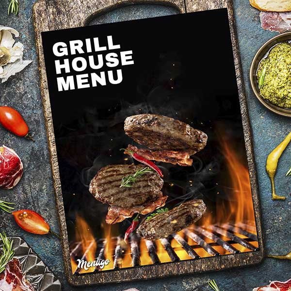 Grill House Restaurant Menu Menu Design