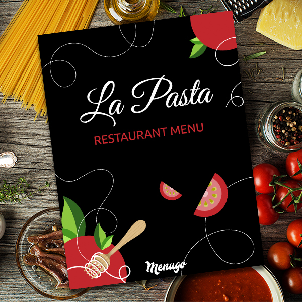 La Pasta Menu Template Menu Design