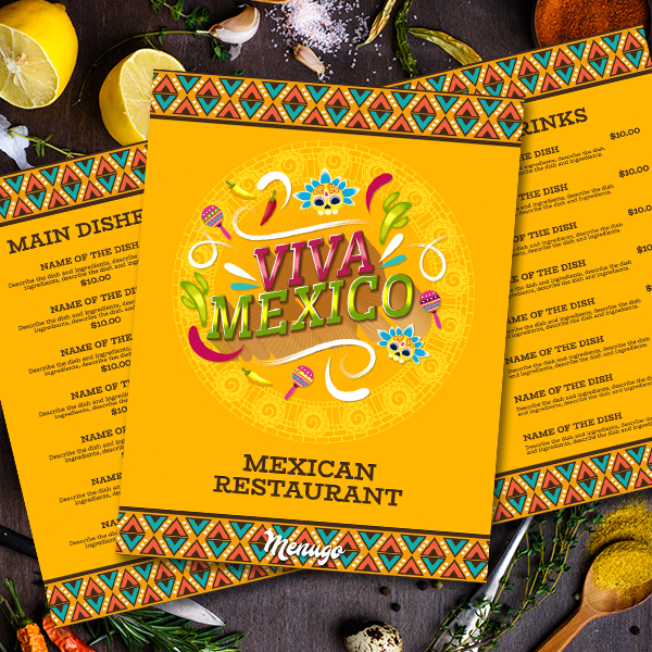 Viva Mexico Menu Template Menu Design