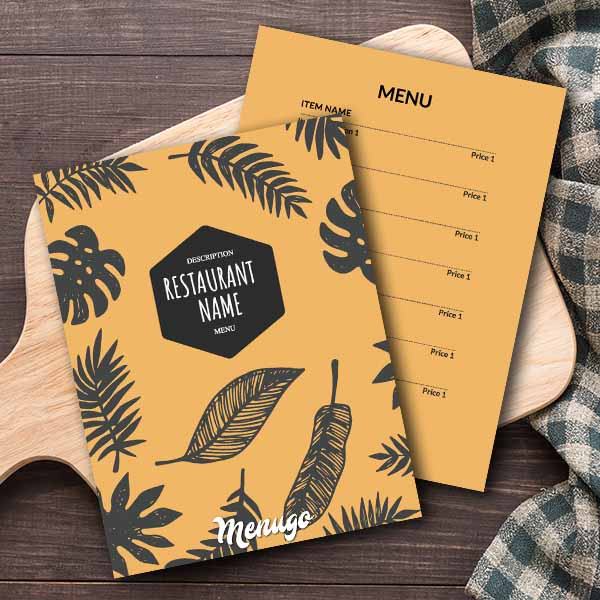 Yellow Generic Menu Template Menu Design