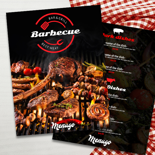 Barbecue Menu Template Menu Design