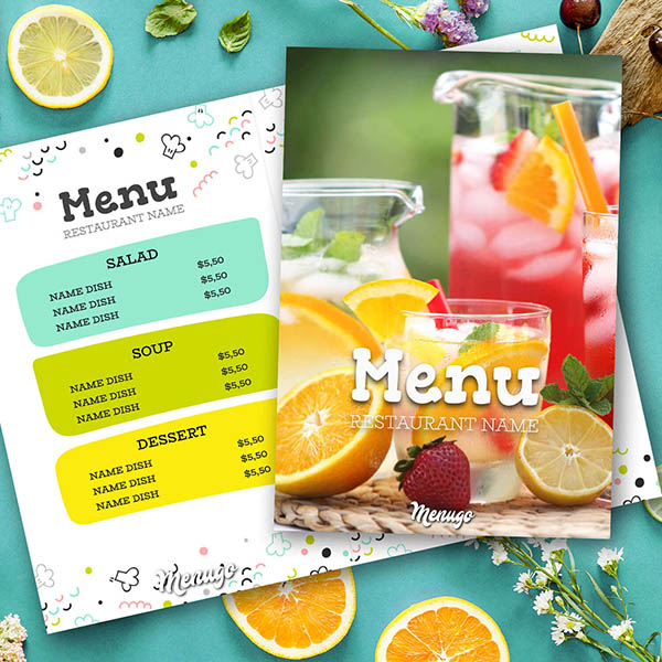 Lively Summer Menu Template Menu Design