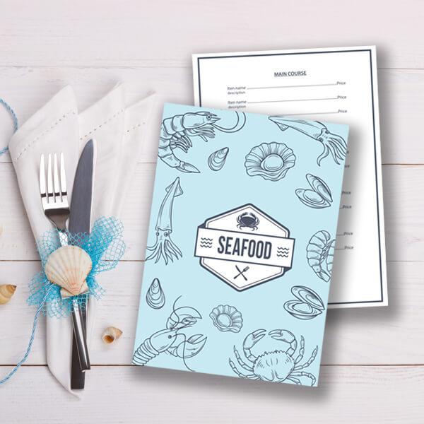 Seafood Menu Theme Menu Design