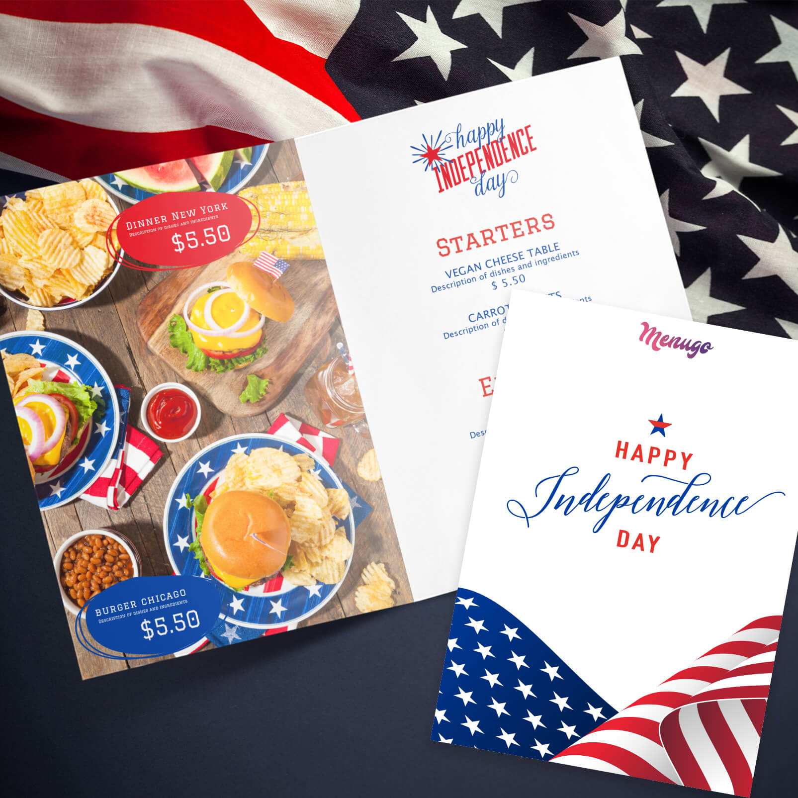 Independence Day - 4th of July Menu Design