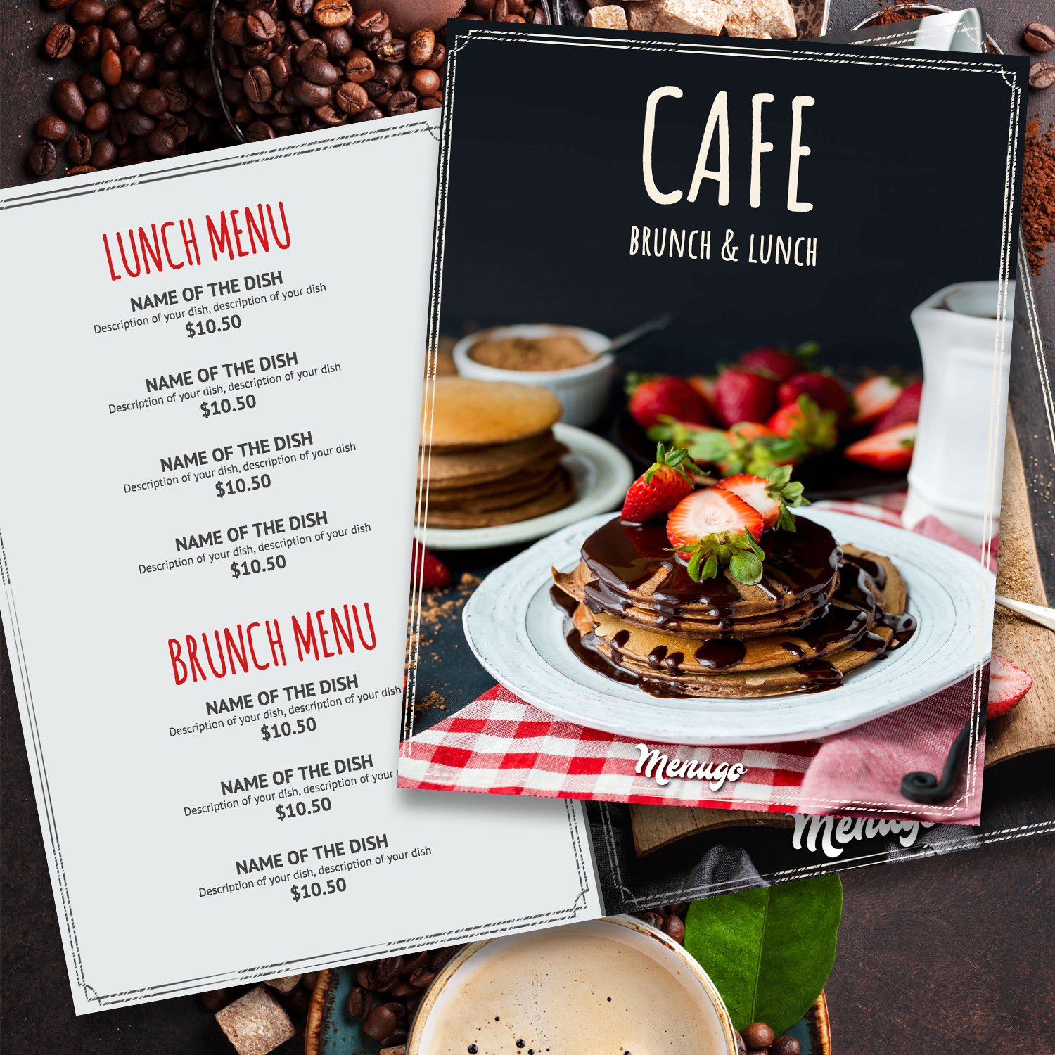 Cafe Brunch&Lunch Menu Design