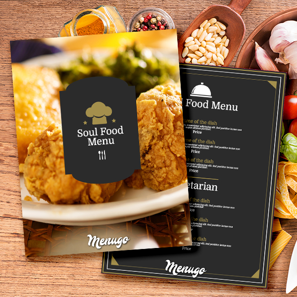 Soul Food Cafe Menu Menu Design