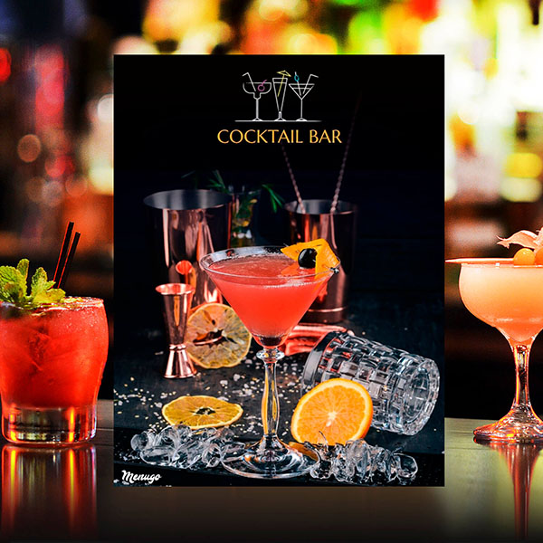 Custom Cocktail Menu Theme Menu Design
