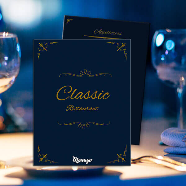 Classic Restaurant Menu Theme Menu Design