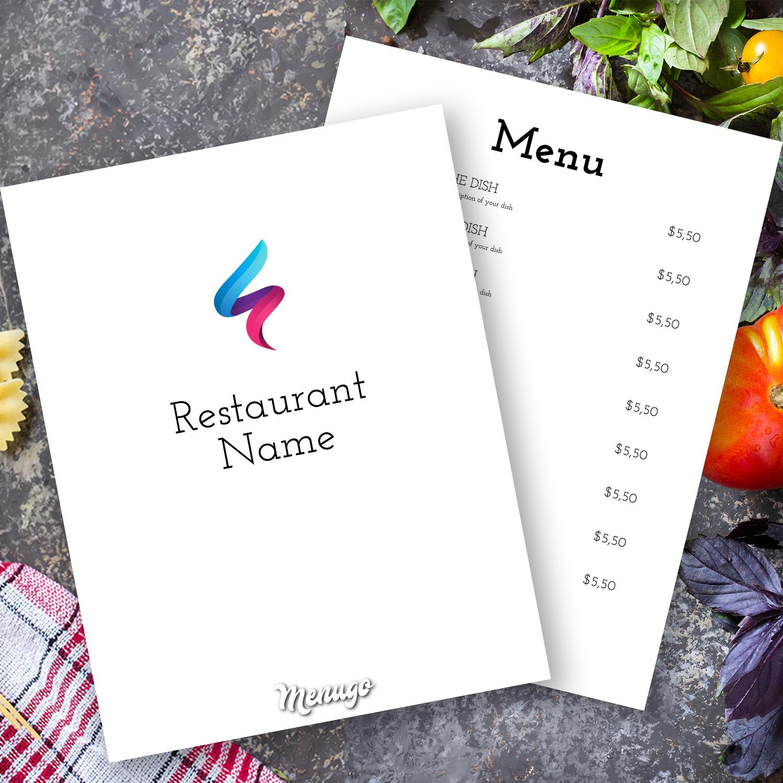 Menugo - Restaurant Menu Maker - Online Editor