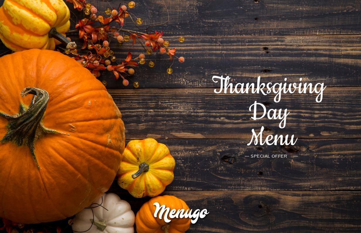Menugo Thanksgiving Day Menu Template